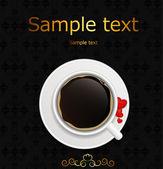 Ilustracja wektorowa tło zaproszenie do kawy — Wektor stockowy