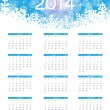 2014 new year calendar vector illustration — Stok Vektör
