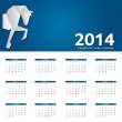 2014 new year calendar vector illustration — Stockvectorbeeld