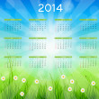 2014 new year calendar vector illustration — Vettoriali Stock