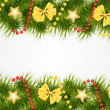 Abstract beauty Christmas and New Year background. Vector illust — 图库矢量图片