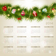 2014 new year calendar vector illustration — Imagen vectorial