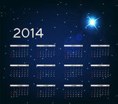 2014 new year calendar vector illustration — Stock Vector