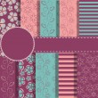 Set of beaautiful vector paper for scrapbook — Stock Vector