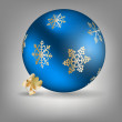 Christmas ball icon vector illustration — 图库矢量图片