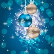 Abstract beauty Christmas and New Year background. vector illust — Imagen vectorial