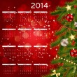 Cтоковый вектор: 2014 new year calendar vector illustration