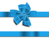 Blue Gift Ribbon . Vector illustration — Stock Vector