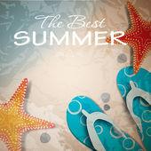 Summer holidays poster vector illustration — Stock Vector