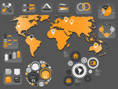 Infographic business template vector illustration — Stock vektor