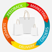 Infographic business mall vektor illustration — Stockvektor