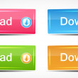 Shiny Rectangle Menu Buttons vector illustration — Stock Vector