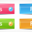 Shiny Rectangle Menu Buttons vector illustration — Stock Vector #29482333