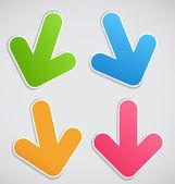 Different arrows vector illustration — Stock Vector
