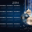 2014 new year calendar vector illustration — ベクター素材ストック