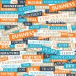 Seamless pattern, which is composed of words on business themes. — Stock Vector