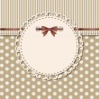 Vector de stock : Vintage frame with bow