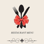 The concept of Restaurant menu. — Stock Vector