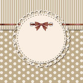 Vintage frame with bow — Vetorial Stock