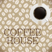 Coffee house menu template — Stock Vector