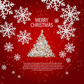 抽象的な美しさのクリスマスと新年の背景. — ストックベクタ