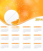 2014 new year calendar vector illustration — ストックベクタ