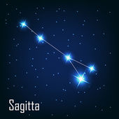 "The constellation "" Sagitta"" star in the night sky. — Vector de stock"