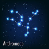 "The constellation "" Andromeda"" star in the night sky. — Stock Vector"