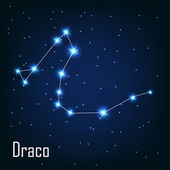"The constellation "" Draco"" star in the night sky. — Stock Vector"
