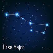 "The constellation "" Ursa Major"" star in the night sky. — Stock Vector"