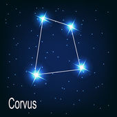 "The constellation ""Corvus"" star in the night sky. — Vector de stock"