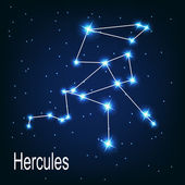"The constellation ""Hercules"" star in the night sky. — Stock Vector"