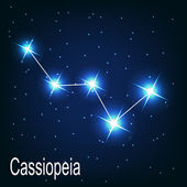 "The constellation ""Cassiopeia"" star — Stock Vector"