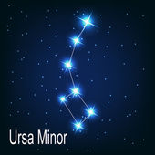 "The constellation "" Ursa Minor"" star — Stock Vector"
