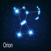 "The constellation ""Orion"" star — Stock Vector"