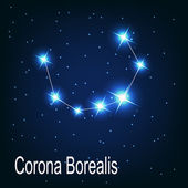"The constellation ""Corona Borealis"" star — Stock Vector"
