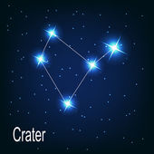 "The constellation ""Crater"" star — Stock Vector"