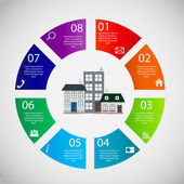 Town infographic template business concept vector illustration — 图库矢量图片