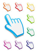 Mouse hand cursor vector illustration — Stock Vector