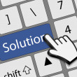 Keyboard solution button with mouse hand cursor vector illustrat — 图库矢量图片