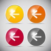 Ilustração em vetor ícone computador lustroso de brilhar — Vetorial Stock