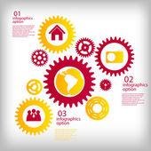 Infographik Business Vorlage-Vektor-illustration — Stockvektor