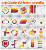 Concept d'entreprise modèle Mega collection infographie vectorielle il — Vecteur