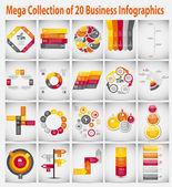 Mega collection Infographic şablon iş kavramı vektör Il — Stok Vektör