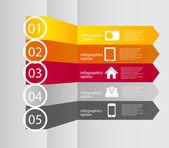 Illustrazione vettoriale di infografica business modello — Vettoriale Stock