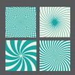 Retro vintage hypnotic background set. vector illustration — Vettoriali Stock