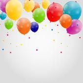 Цветные глянцевые шары фон векторные иллюстрации — Cтоковый вектор