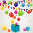 Color glossy balloons background vector illustration — Векторная иллюстрация