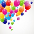 Color glossy balloons background vector illustration — Stock vektor