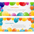 Color glossy balloons card background vector illustration — Stock Vector